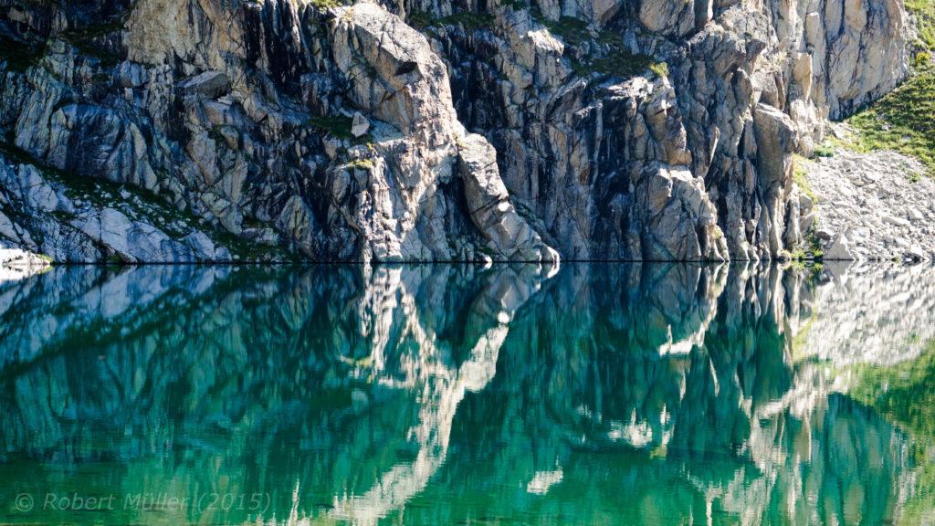 Spiegelsee in den Pyrenäen.