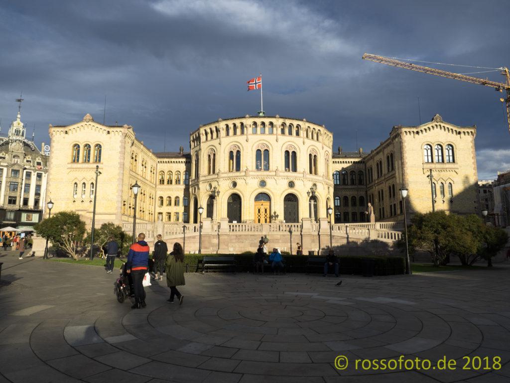 Der Stortinget, das norwegische Parlament.