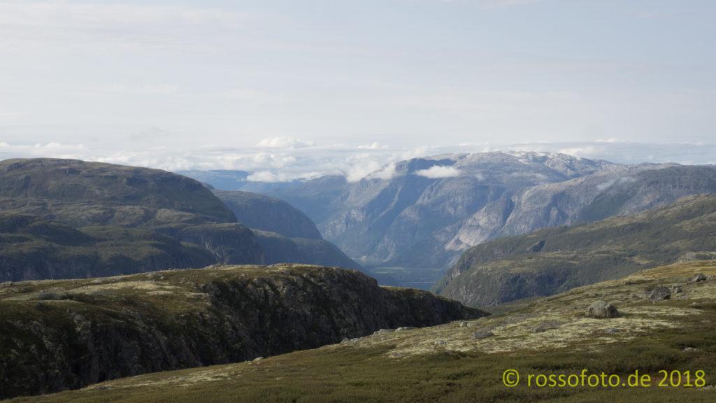 Das Tal des Hardanger-/Eidfjord.