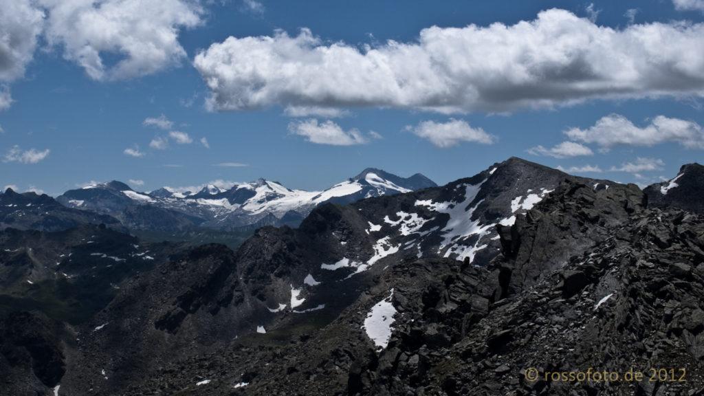 Blick auf die Tuxer Dolomiten