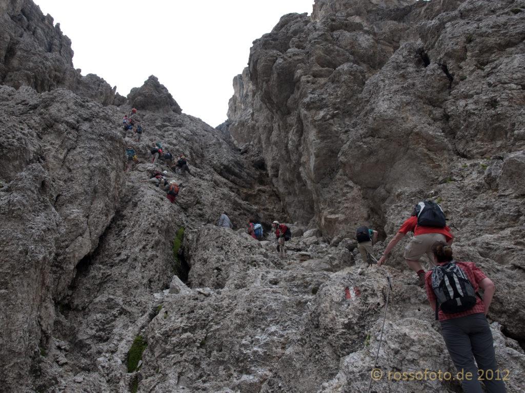 ... unschwieriger Klettersteigpassage ...