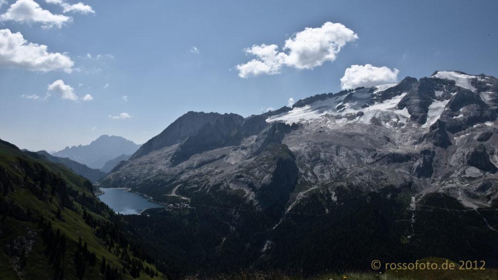 Wo ist nur der Gletscher auf der Marmolada geblieben.