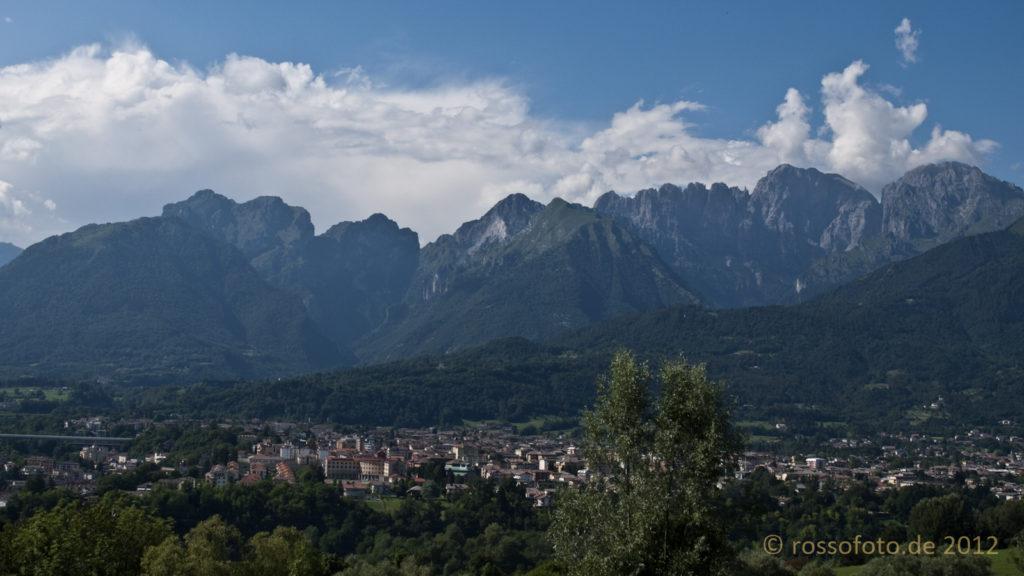 Die Alpen über Belluno.