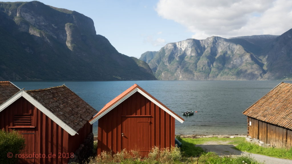 Fischerhütte am Aurlandsfjorden